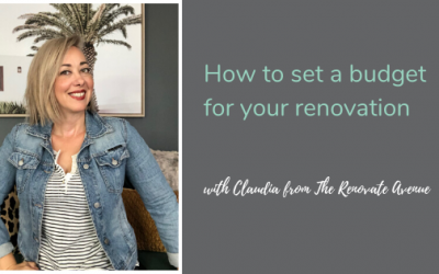 How to set a budget for your home renovation